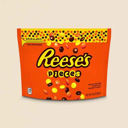Reese's Pieces Chocolate Candy - 9.9oz, Reese's Pieces Peanut Butter Candies - 4oz