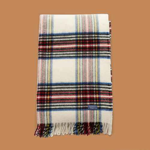 "50""x72"" Holiday Plaid Throw Blanket Natural - Faribault Woolen Mill"