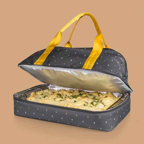 Picnic Time Potluck Casserole Tote Anthology Collection - Gray/Gold
