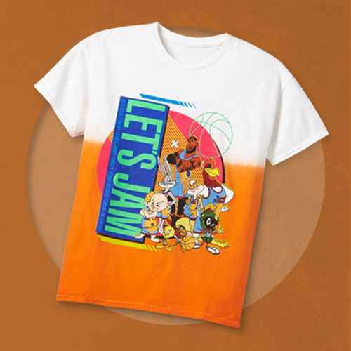 Boys' Space Jam Cloud Wash Short Sleeve Graphic T-Shirt - Orange M