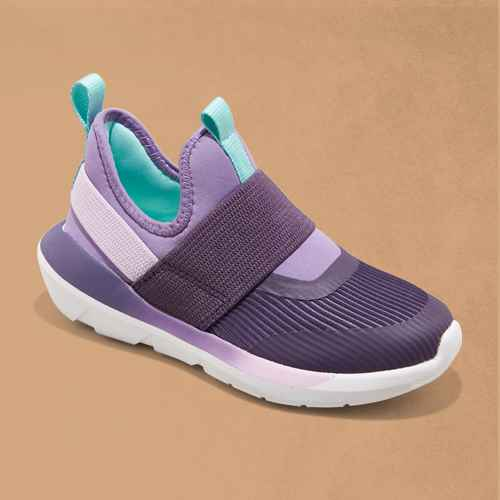 Kids' Silver Performance Pull-On Sneakers - All in Motion™ Purple 3