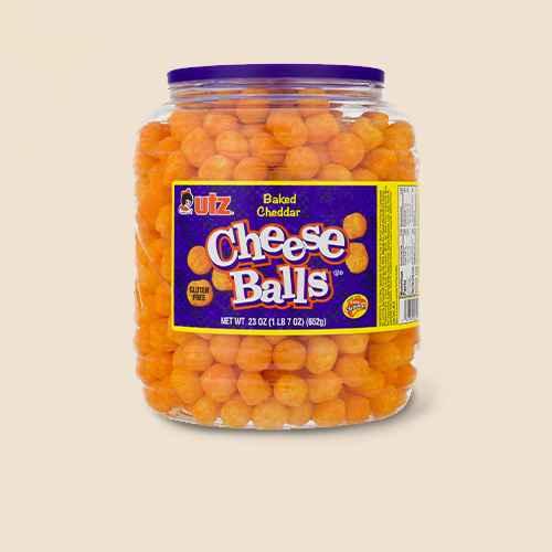 Utz Cheese Balls Barrel - 23oz, Cheddar Cheese Balls - 20oz - Market Pantry™