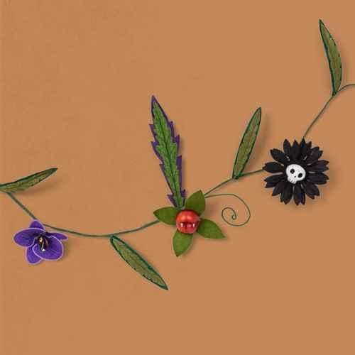 Ghoulish Garden Faux Halloween Creepy Felt Plants Garland with Greenery - Hyde & EEK! Boutique™