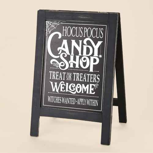Lakeside Hocus Pocus Freestanding Easel Sign for Front Porch or Indoors