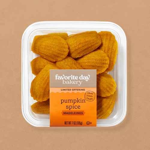 Pumpkin Spice Madeleines - Favorite Day™, Pumpkin Bites with Cream Cheese Frosting - 16ct - Favorite Day™