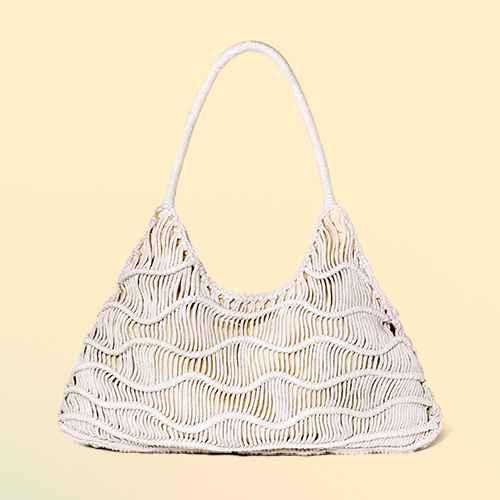 Zig Zag Soft Shoulder Handbag - Universal Thread™ Natural