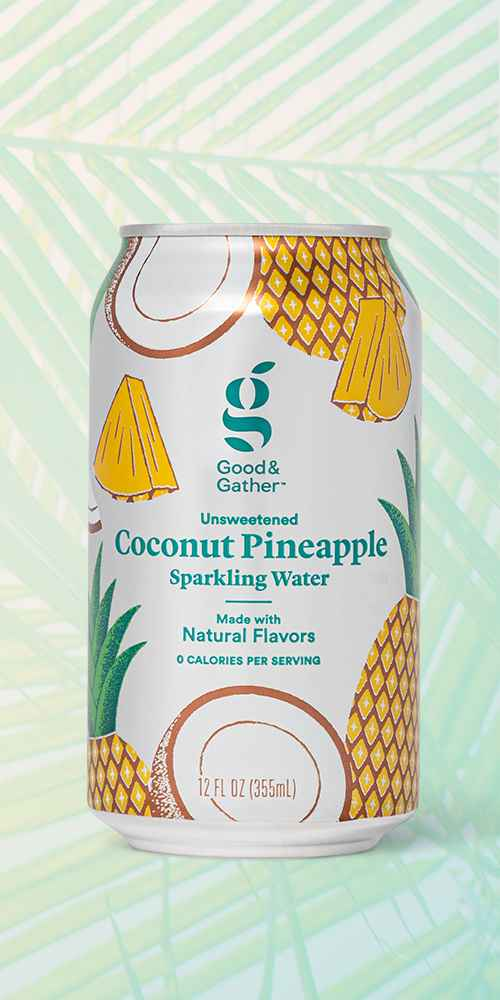 Coconut Pineapple Sparkling Water - 8pk/12 fl oz Cans - Good & Gather™, Tropical Cherry Sparkling Water - 8pk/12 fl oz Cans - Good & Gather™, Strawberry Mango Sparkling Water - 8pk/12 fl oz Cans - Good & Gather™