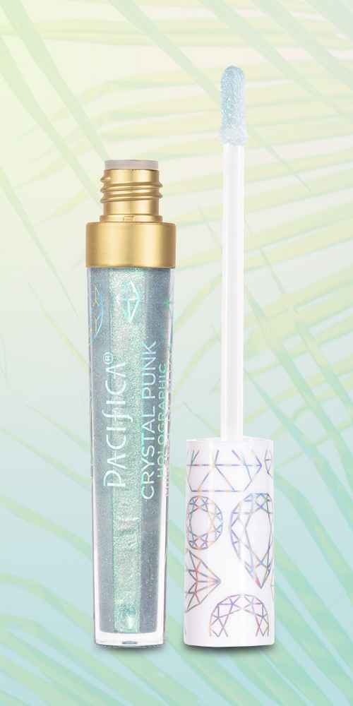 Pacifica Crystal Punk Holographic Mineral Lip Gloss Cosmos - 0.14oz