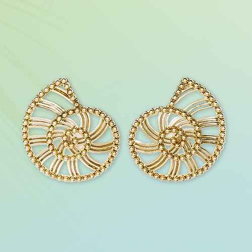 SUGARFIX by BaubleBar Shell Drop Earrings - White