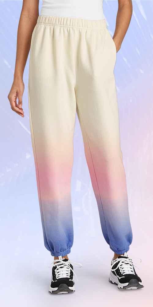 High-Rise Vintage Jogger Sweatpants - Wild Fable™ Pink/Purple Dip-Dye S