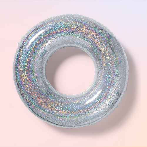 Glitter Swim Tube Silver - Sun Squad™