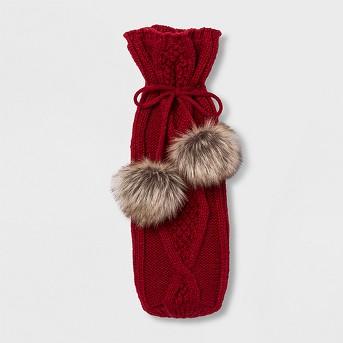 Knit Wine Bag Red - Threshold™
