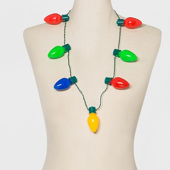 Lite-Up Bulb Necklace - Green