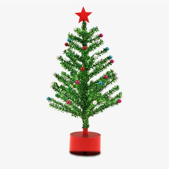 Rotating Musical Light-Up Tinsel Tree - Wondershop™