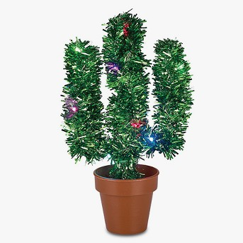 Philips 1ct Christmas LED Tinsel Cactus USB Color Changing