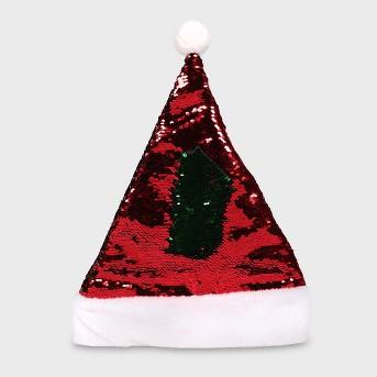 Red Reversible Sequin Santa Hat - Wondershop™