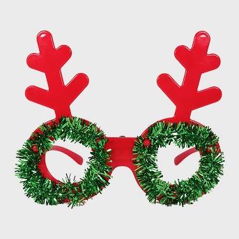 Tinsel Wreath Glasses with Antlers - Wondershop™
