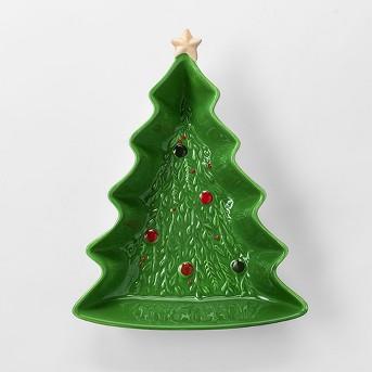 9.5oz Earthenware Christmas Tree Candy Dish Green - Threshold™