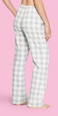 Women's Plaid Flannel Pajama Pants - Gilligan & O'Malley™ Cream