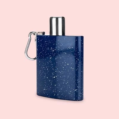 True Fabrications 6oz Stainless Steel Enamel Carabiner Flask - Blue