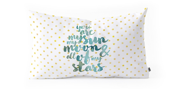Hello Sayang You Are My Sun My Moon And All Of My Stars Lumbar Throw Pillow White - Deny Designs