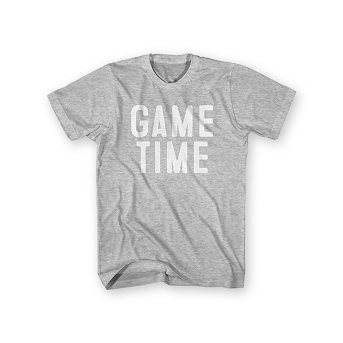 Men's Short Sleeve Game Time Graphic T-Shirt - Heather Gray