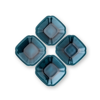 4pk Appetizer Plate Square Blue - Hearth & Hand™ with Magnolia