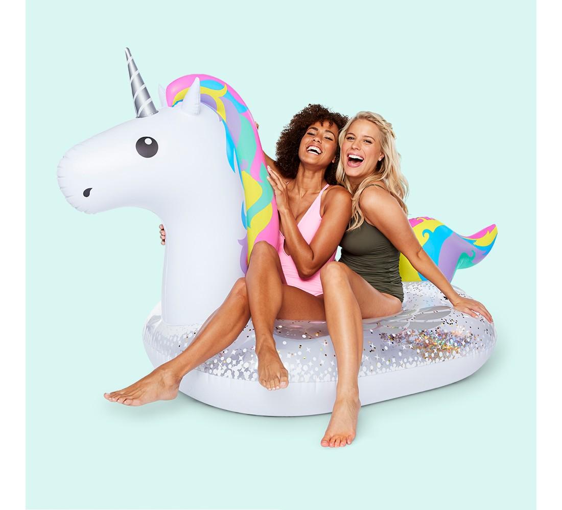 Big Mouth Toys Unicorn Pool Float - White