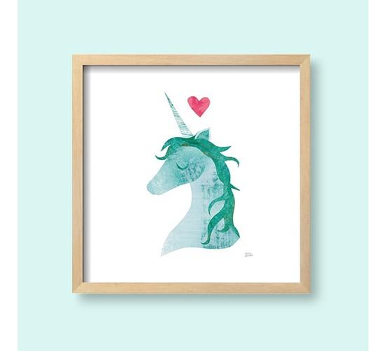 Unicorn Magic II Heart Sq by Melissa Averinos Framed Art Print - Art.com