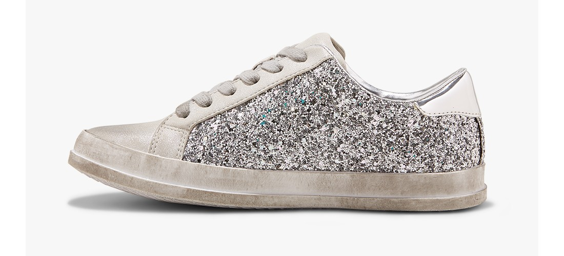 Women's Tiffani Lace Up Glitter Sneakers - Mossimo Supply Co.™