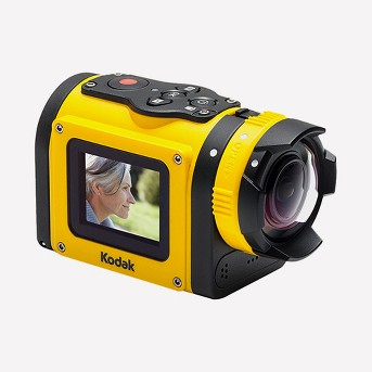 Kodak SP1-YL3 14MP Digital Action Camera Kit with CMOS and 1.5-Inch LCD - Yellow