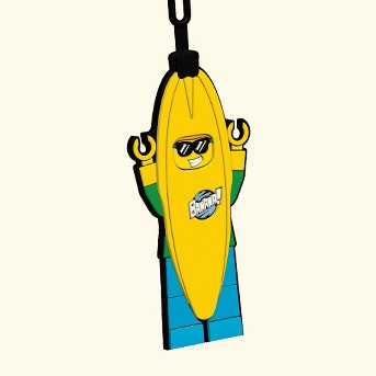 LEGO Banana Guy Luggage Tag
