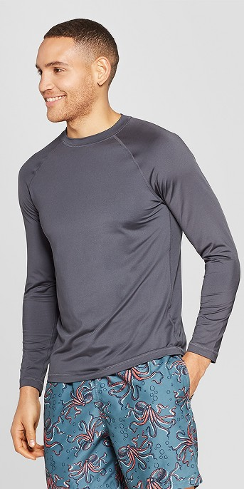 Men's Long Sleeve Rash Guard - Goodfellow & Co™ Gray, Men's 6