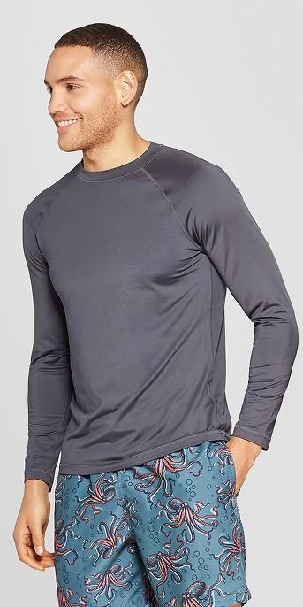 Men's Long Sleeve Rash Guard - Goodfellow & Co™ Gray, Men's 6