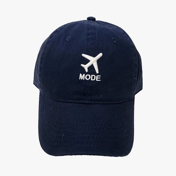 Airplane Mode Men's Baseball Hats - Navy One Size
