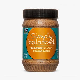 All Natural Creamy Almond Butter - 16oz - Simply Balanced™