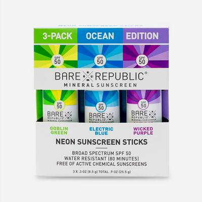 Bare Republic Sunscreen - SPF 50 - 3ct