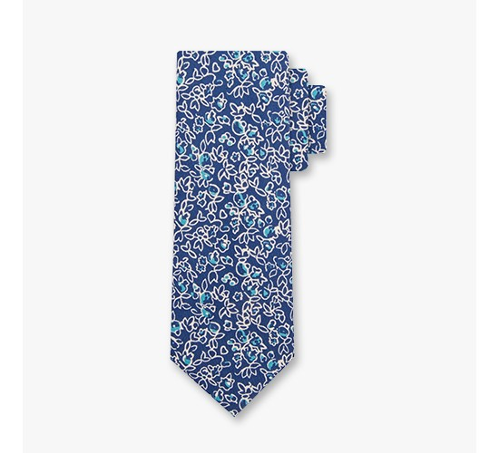 Men's Floral Print Necktie - Goodfellow & Co™ Navy One Size