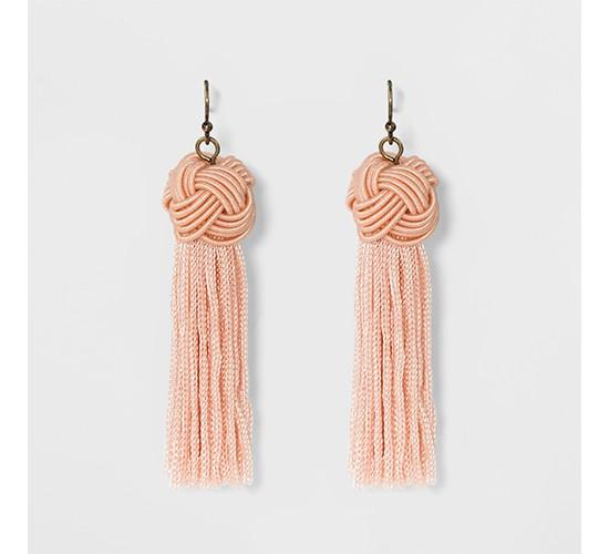 SUGARFIX by BaubleBar Tassel Drop Earrings with Knot