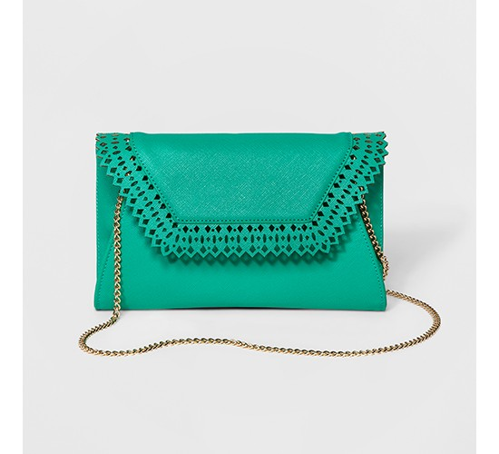 Women's Envelope Clutch with Geometric Flap Closure - A New Day™
