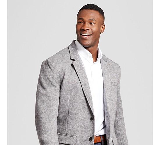 Men's Big & Tall Standard Fit Deconstructed Knit Blazer - Goodfellow & Co™ Gray