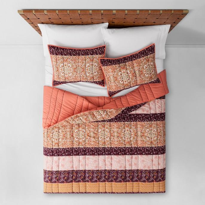 Peach Desert Rose Stripe Quilt - Opalhouse™, Peach Desert Rose Stripe Sham (Standard) - Opalhouse™