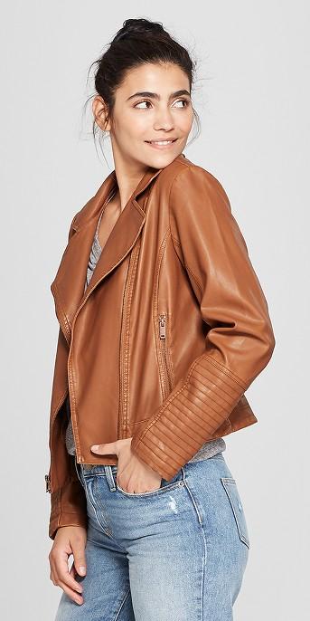 Women's Faux Leather Moto Jacket - Universal Thread™