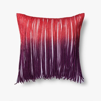 Indie Fringe row Throw Pillow