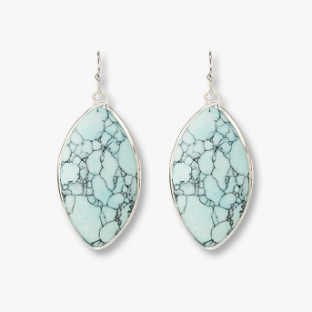 Marquis Shape Stone Drop Earrings - Universal Thread™ Blue