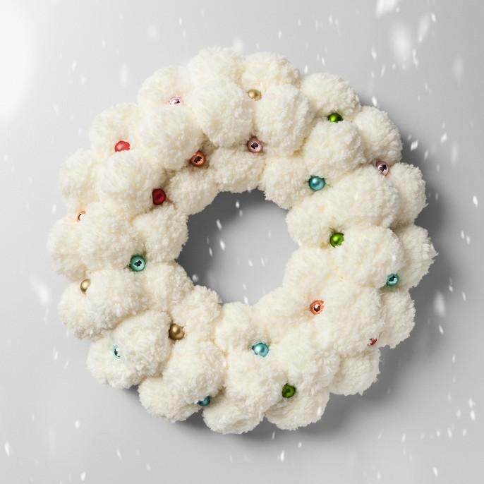 Wreath Pom Pom with Glass Ball - Opalhouse™