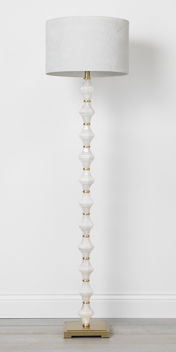 Glass Metal Stacked Floor Lamp Cream - Opalhouse™