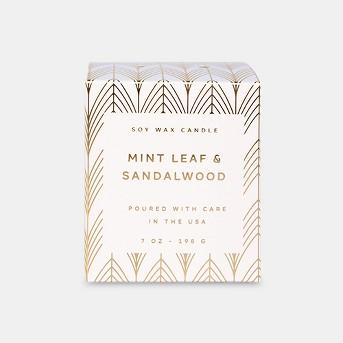 7oz Matte Ceramic Jar Candle Mint Leaf & Sandalwood - Vineyard Hill Naturals By Paddywax