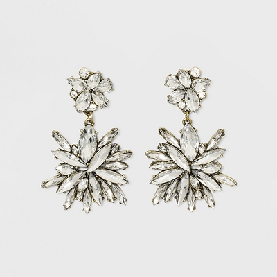 SUGARFIX by BaubleBar Icicle Drop Earrings - Clear