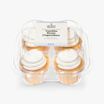 Vanilla Bean Cupcake With Vanilla Cream Filling - 4ct - Archer Farms™